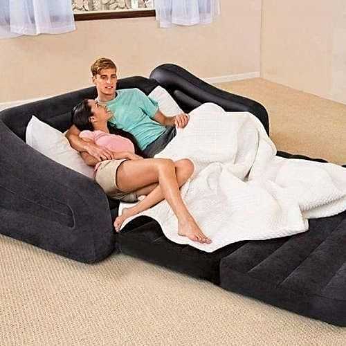 Intex Inflatable Double Sofa Chair Bed. Black