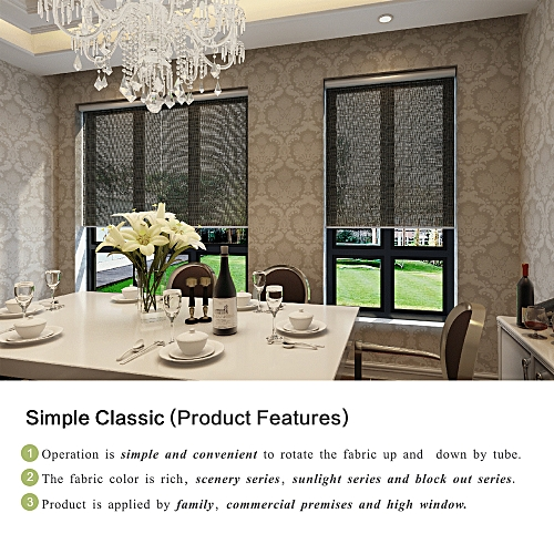 KG Width 20inch Length 32-79inch Roller Blinds Curtain Shade