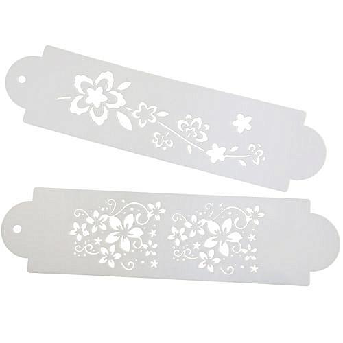 Flower Style Decorative DIY Cake Mold 2pcs - White