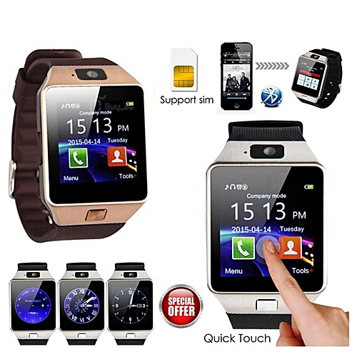 b3bf776a8d79 Generic DZ09 New 2.0 Version Smart Watch Phone Camera Bluetooth HT. By  Generic
