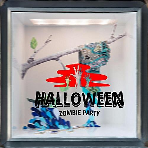 Hallowen Zombie Party Showcase Glass Window Decor Wall Sticker Party House Home Decoration Creative Decal DIY Mural Wall Art Sticker