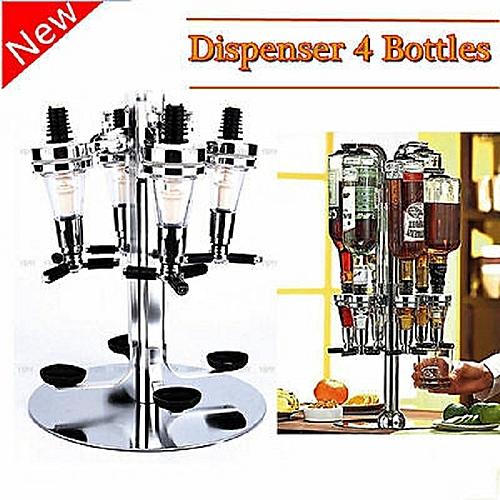 4 Heads Bar Butler Rotary Wine Juice Tail Dispenser Holder
