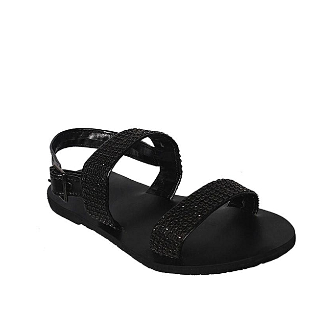 5739685ca Fashion Black Stone Detail Men's Sandals | Jumia NG