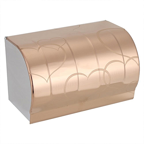 Stainless Steel Toilet Paper Roll Holder With Cover Wall Mount Polished Finish Bathroom Decor