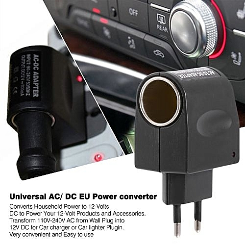 Car Ac To DC Adaptor 110V-240V AC To 12V DC EU Power Adapter Converter