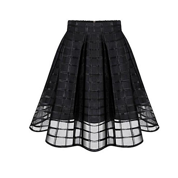 b16ef4e6c5 Neworldline Women Organza Skirts High Waist Zipper Ladies Tulle ...