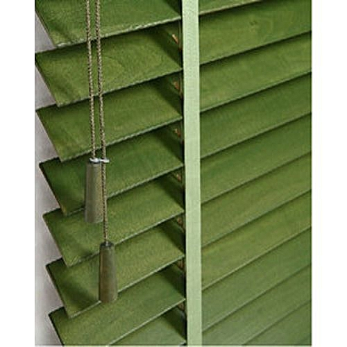 Wooden Window Blinds - Green