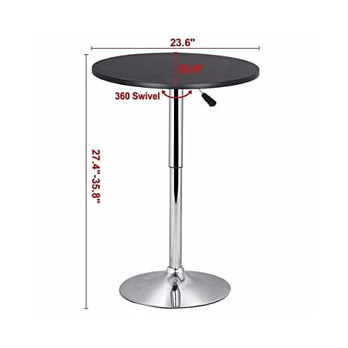 Round Bar Adjustable Table