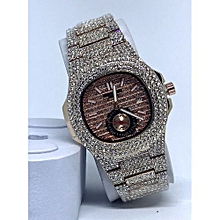 34fee3936b 2019 Ice'd Studded Chronograph Watch Rose Gold