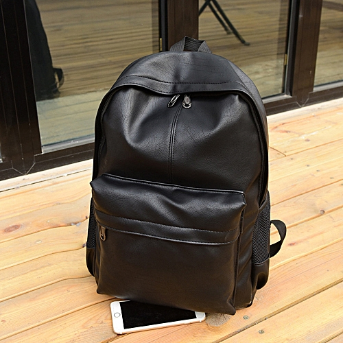 bf605801b4c4 Fashion Featured Men s Women s Leather Backpack Laptop Satchel Travel  School Rucksack Bag