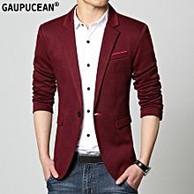 f05b1010e813 Men  039 s New Spring Autumn Suit Jacket Korean Slim Man Cotton One Button
