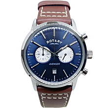 e1eead1f9f2a GS02730 05 Men  039 s Avenger Chronograph Blue Dial Brown Leather Medium  Size
