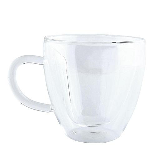 240Ml Heart Shape Glass Tea Cup Double Wall Layer Coffee Mu