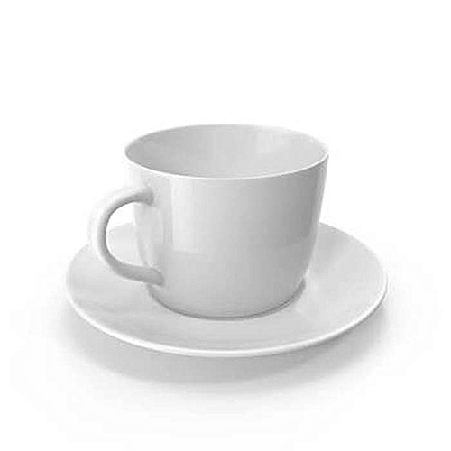 6 Pieces Teacup And Saucer - White