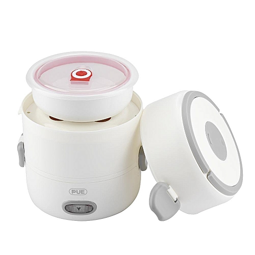 3- Layer Electric Heating Lunch Box Food Warmer Cooker With Ceramic Liner EU Plug 220V