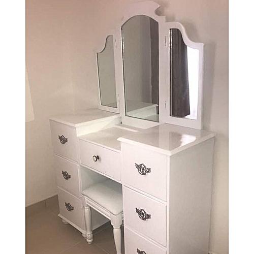 GloryTon Exclusive Dressing Mirror (Dark Brown) Set With Free Seat (Lagos Only)