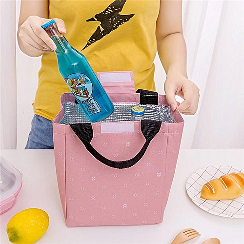 New Portable Lunch Bag Small Leaf Insulation Package Family Picnic Cold Ice Cooler Canvas Hand Bag Baby Food