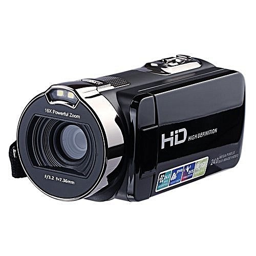 Camcorder Digital Video Camera 24MP Full HD 16x With 2.7 Inch Rotating LCD Screen