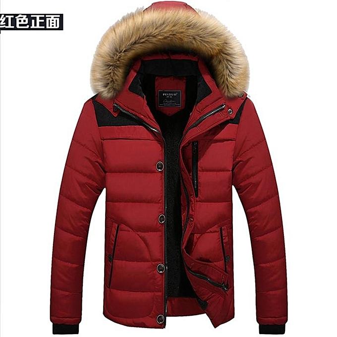4ab4a91ccb4f7 Fashion Black Winter Jacket Men Casual Cotton Thick Warm Coat Men s Outwear  Parka Plus Size 4XL Coats Windbreak Snow Military Jackets