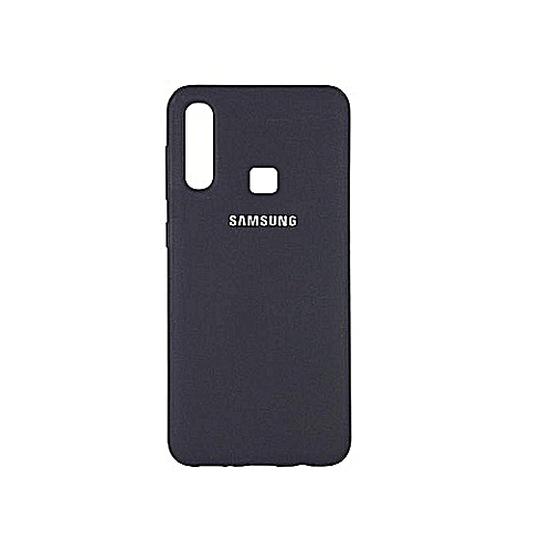 Samsung A20 Silicone Back Case- Black