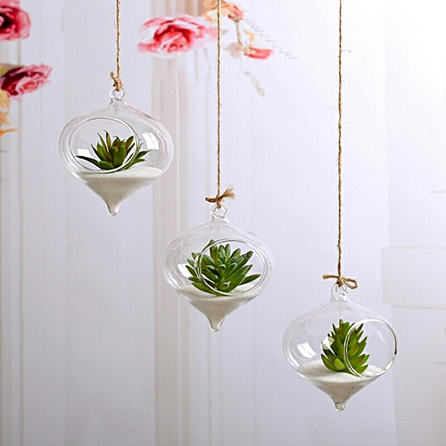 Cute Transparent Glass Round Hole Flower Vase Wedding Party Decoration