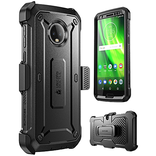 info for aa6c5 3f7f8 Moto G6 Case Full-Body Case With Screen Protector And Rotatable Holster  Belt Clip Unicorn Beetle Pro Series (Black)