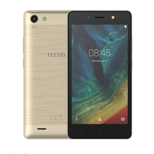 Tecno wx3P. 5.0 Display 5.0mp Rear 5.0mp Front 5000mAh Battery Android 7.0 1gb Ram 8gb Rom Expandable Up To 32gb Champaign Gold.