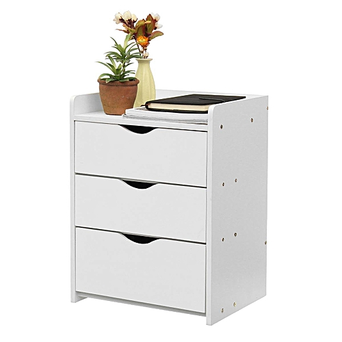 Bedside Table Night Stand Bedroom Organizer Cabinet W/Drawer Storage