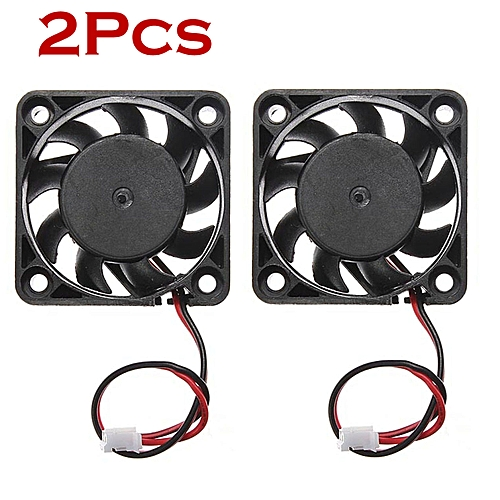 2Pcs 12V Mini Cooling Computer Fan - Small 40mm X 10mm DC Brushless 2-pin
