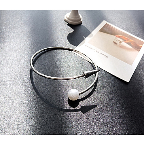 Generic 【Main Picture】European And American Fashion Simple Opening Bracelet Female Gold Personality Pearl Bracelet Bracelet Jewelry Korean Decorative Accessories