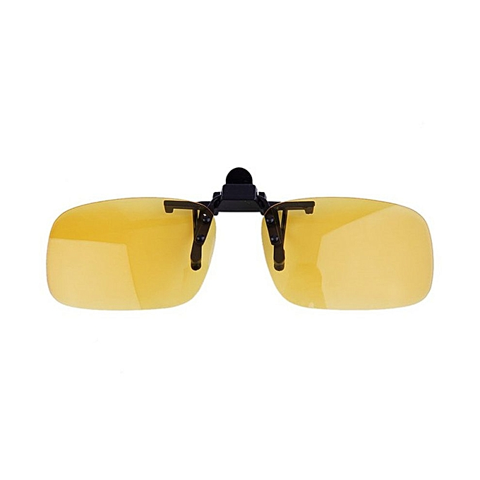 068a810cd35b Driving Night Vision Clip-on Flip-up Lens Sunglasses Glasses Cool Eyewear  Night Vision