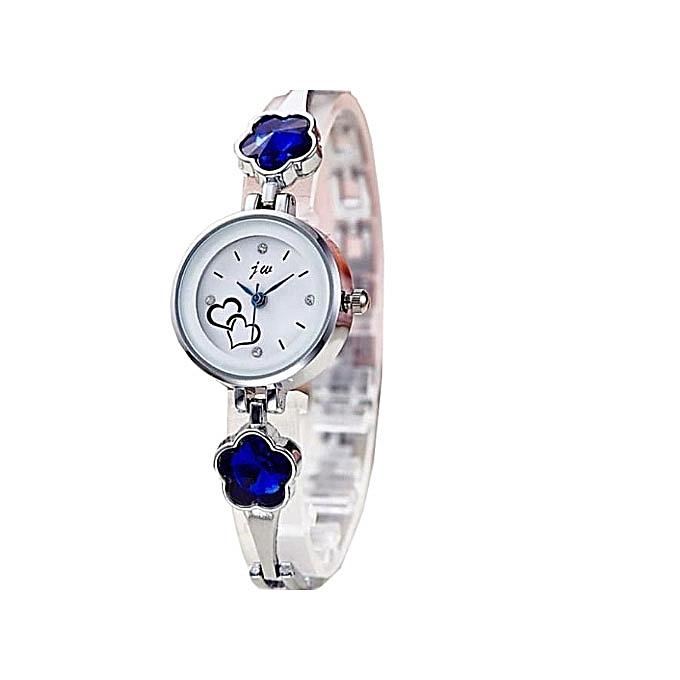 jw Wristwatch With Royal Blue Stud_Silver
