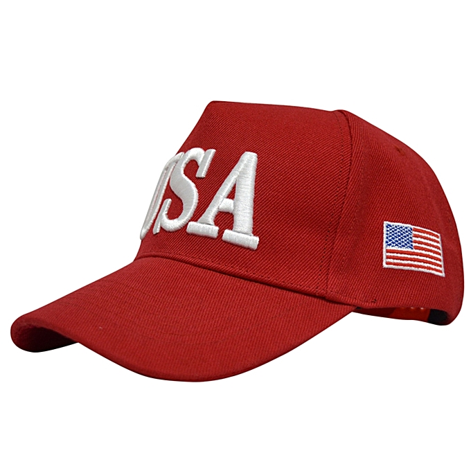 91db29957bc6e Fashion Cool Fashion Embroidery Letter Number Baseball Cap-Red ...