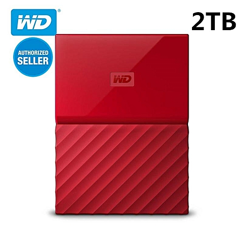 Generic WD My Passport 2TB Portable Hard Disk USB 3.0-Red