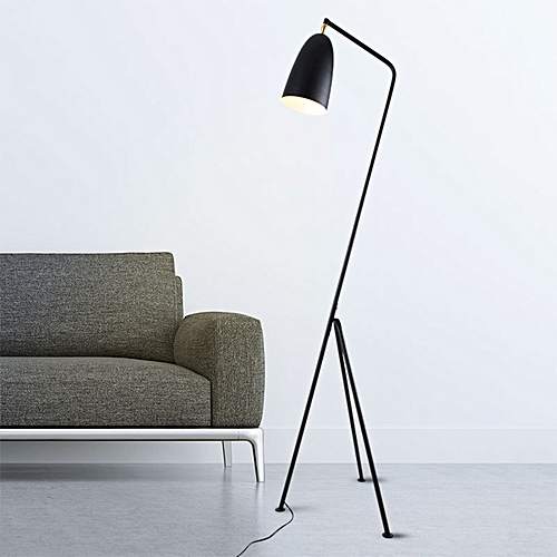 Modern Grasshopper Triangle LED Floor Lamp Greta Magnusson Grossman Style Lights