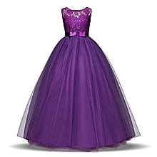 3156c1234e Big Girls Chiffon Lace Party Wedding Bridesmaid Dress Junior Maxi Dance  Ball Gown