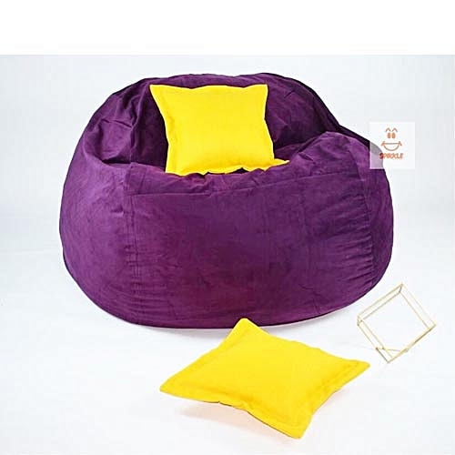 Spikkle Spikkle Giant Bean Bag Chair Amp 2 Pillows Purple