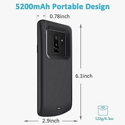 on sale f9241 bdf41 Samsung Galaxy S9 Plus Battery Case Portable External Charging Case Slim  Shockproof Case Power Bank Protective Extended Battery Case Juice Pack  Backup ...
