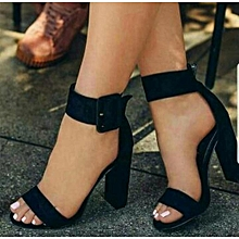 Beste Lost Ink Palm Curved Ankle Strap Court High Heel Pumps