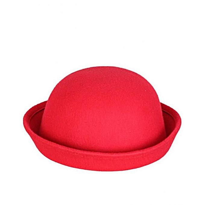 9e16e8e9ced67 Fashion Bowler Hat - Red