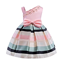 Floral Baby Girl Princess Bridesmaid Pageant Gown Birthday Party Wedding  Dress Musiccool 144f44f4e86b