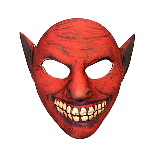 EVA Horror Elf Mask Halloween Costume Scary Face Masks Party Costumes Prop Red