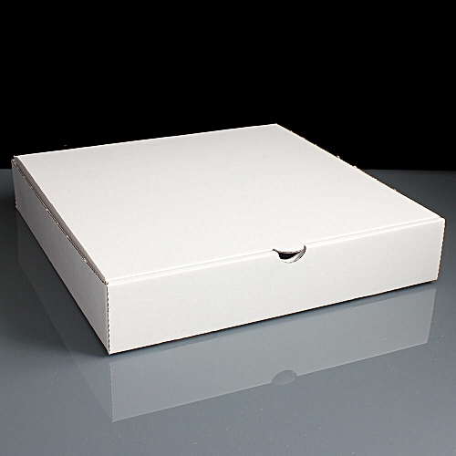PIZZA BOX (WHITE) PLAIN 9'' - 50 UNITS