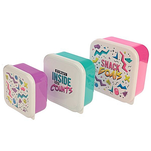 Set Of 3 Lunch Boxes Gym & Her Slogans