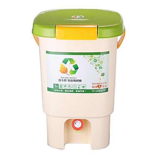 Aerated Compost Bin Grey - Food Waste Garden Recycling Composter #Compost Bin