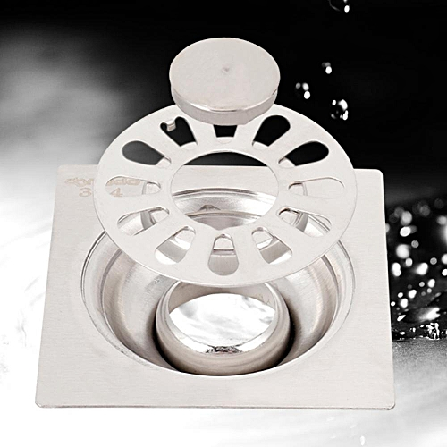 High Quality Zinc Alloy Bathroom Shower Square Floor Drain Cover Deodorant Wet Room