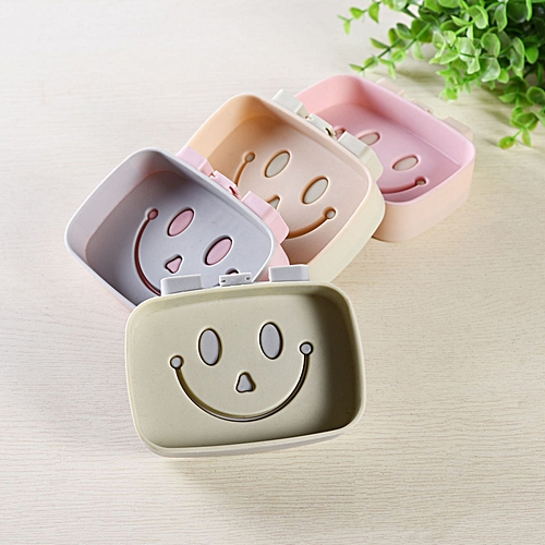 Durable Soap Holder Smile Face Traceless Sticker
