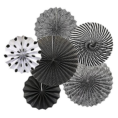 Wanna Party Black Paper Fan Decorations