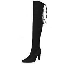 9642d7f1f0d3 Women  039 s Thigh High Fashion Over The Knee Block Heel Boots