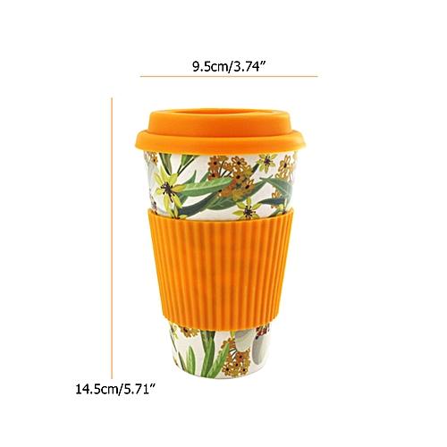 Reusable Bamboo Fibre Ecoffee Cups Tea Coffee Mugs Travel Mug Eco Cup With Cover